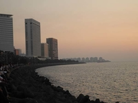 Nariman Point Buildings & Cuff Parade Behind