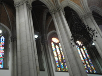 Gothic Pillars & Stained Windows
