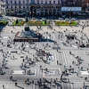 Duomo Square In Milan - Lombardy - Aerial View