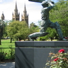 Don Bradman Statue At Adelaide Oval
