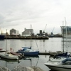 Panorama Of Dublin Port In The Evening