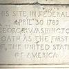 Engraving Below Washington Statue