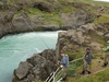 Fishermen At Godafoss Falls - Iceland