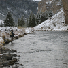 Fishing On The Gallatin In Snow