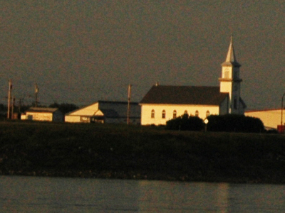Fort Providence From The Mackenzie River