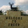 Freer Welcome Sign