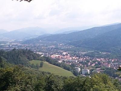 Freiburg  Landschaft Vom Schlossberg Aus
