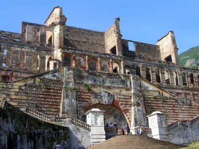 Front View Of Sans Souci Palace