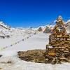 Frozen Lake & Stone Stupa In Sagarmatha NP