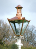 Gas Street Lamps Line In Park