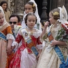 Girls In Historical Valencian Costumes