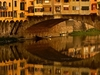 Gondola Hidden Under Ponte Vecchio Bridge In Florence
