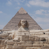Great Sphinx Of Giza & Kheops Pyramid