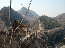 Great Wall At Simatai Overlooking Gorge