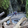 Group Exploring Oneonta Gorge OR