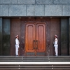 Guarding The Ho Chi Minh Mausoleum Entrance Door