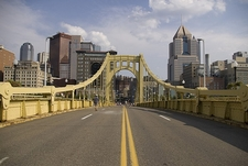 Halfway Through Roberto Clemente Bridge - Pittsburgh PA