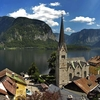 Hallstatt With The View Of Protestatnt Church And Obertraun
