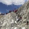 Hikers At Cho La Pass - Nepal Himalayas