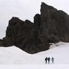 Hikers At Vatnajokull Glacier
