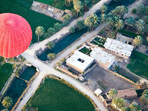 Hot Air Balloon Flight Over Luxor West Bank and Nile River Photos