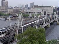 Hungerford Bridge And Golden Jubilee Bridges
