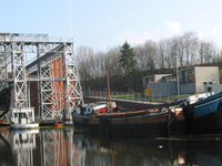 Lifts On The Old Canal Du Centre