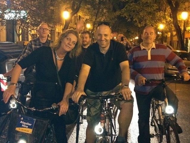 Valencia Bike Night Tour Photos