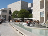 The Inner Courtyard Of The Getty Museum