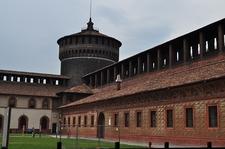 Inside Castello Sforzesco - Milan