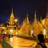 Inside Shwedagon Pagoda - Night View