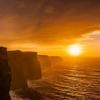 Irish Cliffs Of Moher At Sunset