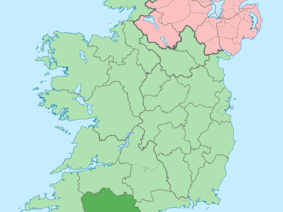 Island Of  Ireland Location Map  Cork