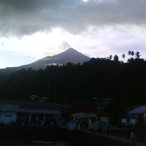 Mount Karangetang From Ulu Siau Harbour