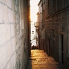 Korcula City Stairway Sunset