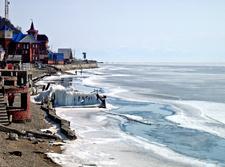 Lake Baikal Sheets Of Ice