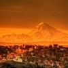 La Paz Overview With Mount Illimani