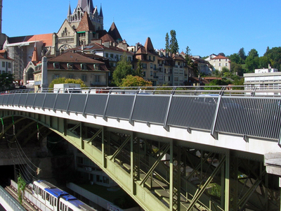 Lausanne Cathedral And Old Town