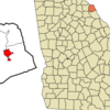 Location In Hart County And The State Of Georgia