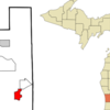 Location Of Hudsonville Within Ottawa County Michigan