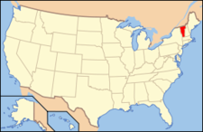 Location Of Vermont With The U.s.a.