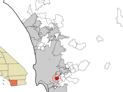 Location Within San Diego County