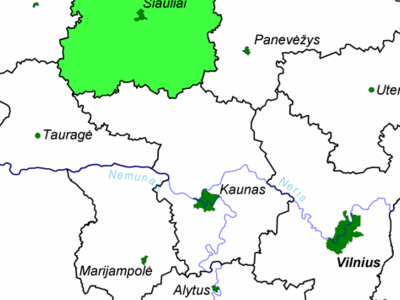 Location Of Iauliai County