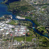 Lake Taupo And Waikato River Aerial View