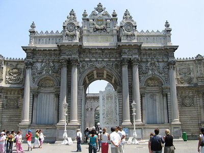 Main Entrance Of The Dolmabahçe Palace In Istanbul