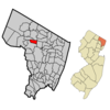 Map Highlighting Ho Ho Kuss Location Within Bergen County. Inset