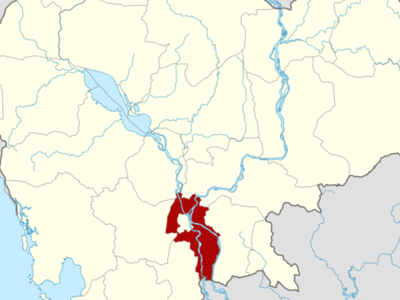 Map Of Cambodia Highlighting Kandal
