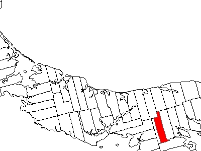 Map Of Prince Edward Island Highlighting Lot 51