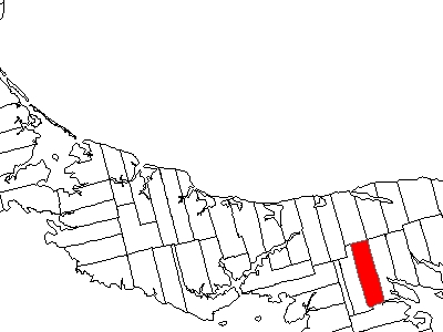 Map Of Prince Edward Island Highlighting Lot 52