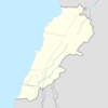 Map Showing The Location Of Dhour El Shuwayr Within Lebanon